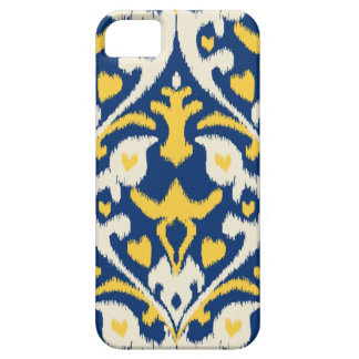 Modern buff yellow blue ikat tribal pattern iPhone 5 cover