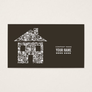 Modern Builder Construction Template Business Card