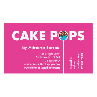 Modern Cake Pops Business Card