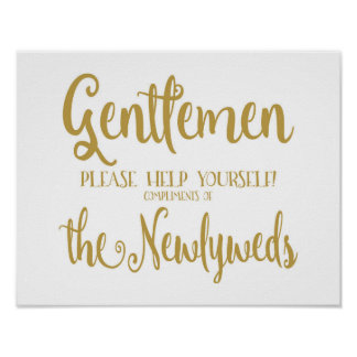 Modern Calligraphy Men  39 s Bathroom sign Print. Vintage Bathroom Signs   Zazzle co nz