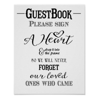 Modern Calligraphy wedding sign Guest book print