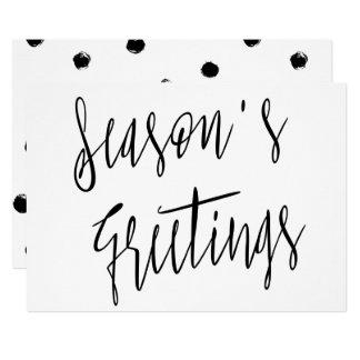 "Modern Chic Calligraphy ""Season's Greetings"" Card"