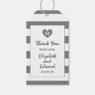 Modern Chic Charcoal Wedding Gift Tags