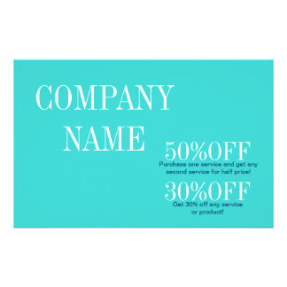 modern chic fashion girly beauty turquoise teal 14 cm x 21.5 cm flyer