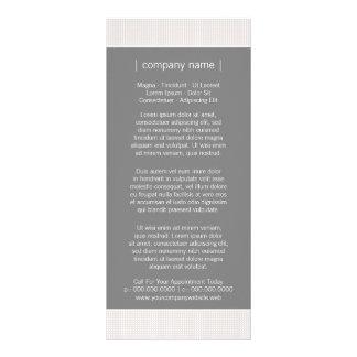 Modern Chic Gray Business Rack Card