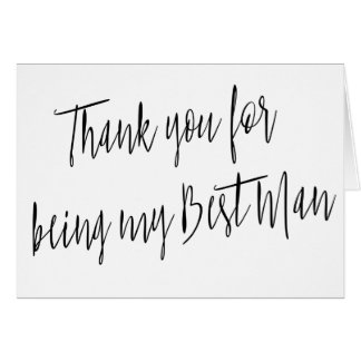"Modern Chic ""Thank you for being my best man"" Greeting Card"