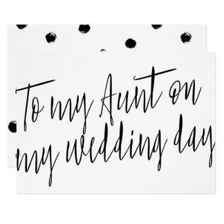 "Modern Chic ""To my aunt my wedding day"" Card"
