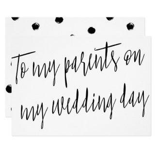 "Modern Chic ""To my parents on my wedding day"" 13 Cm X 18 Cm Invitation Card"