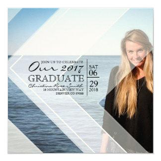 Modern & Chic White Graphic Overlay | Graduation Card