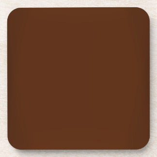 Modern Chocolate Brown Customizable Coasters