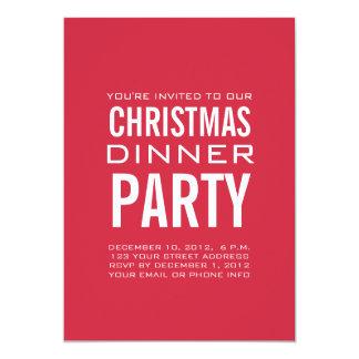 MODERN CHRISTMAS DINNER PARTY INVITATION