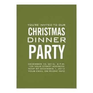 "MODERN CHRISTMAS DINNER PARTY INVITATION 5"" X 7"" INVITATION CARD"