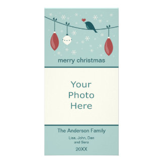Modern Christmas Personalized Photo Card