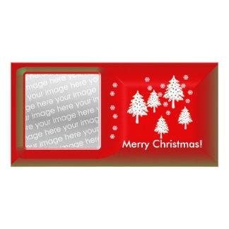Modern Christmas Trees Photo Card