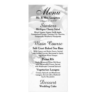 Modern Chrysanthemum/Peony Flower - Reception Menu Rack Cards