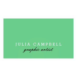 Modern Clean Solid Sea Green Business Card