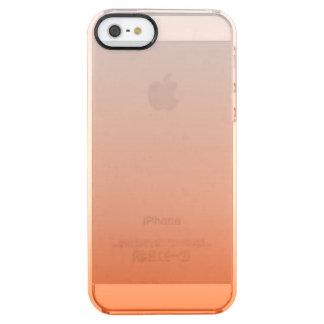 modern Clementine Tangerine orange ombre Clear iPhone SE/5/5s Case