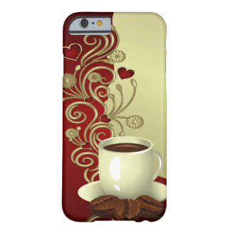 Modern Coffee Lover Barely There iPhone 6 Case