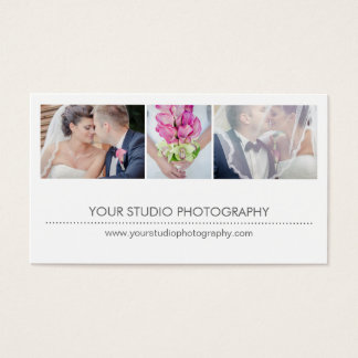 Modern Collage Appointment Reminder Card - White