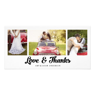 Modern Collage | Wedding Thank You Photo Card