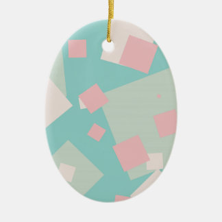 Modern colorful cyan and pink boxes pattern christmas ornament