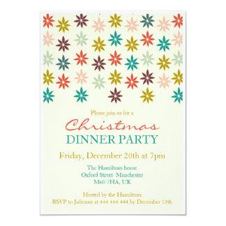 Modern Colorful Poinsettia Christmas Dinner 13 Cm X 18 Cm Invitation Card