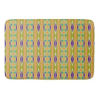 Modern Colorful Trendy Tribal Aztec Geo Pattern Bath Mats