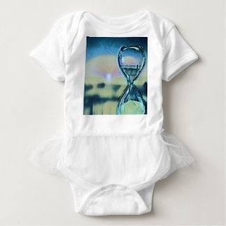 Modern Colourful Hourglass Passage Of Time Baby Bodysuit