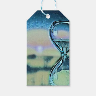 Modern Colourful Hourglass Passage Of Time Gift Tags