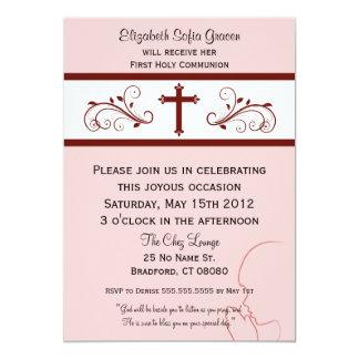 Modern Communion Invitations for Girls