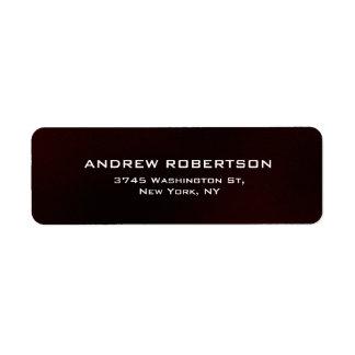 Modern Contemporary Brown Elegant Return Address Label