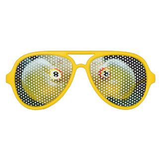 modern cool nerdy crazy goldfish eyes aviator sunglasses