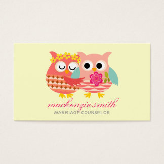 Modern Cute Owls Couple Marriage Counselor
