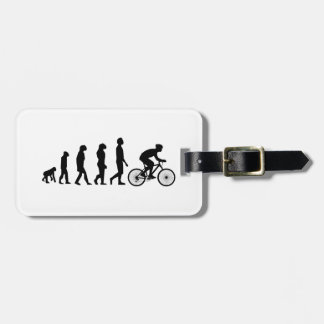 Modern Cycling Human Evolution Scheme Bag Tag