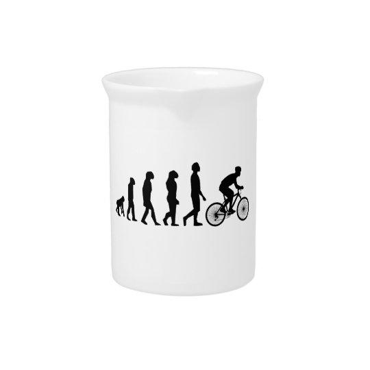 Modern Cycling Human Evolution Scheme Beverage Pitchers