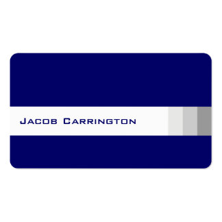 Modern Dark and Basic (Blue) Double-Sided Standard Business Cards (Pack Of 100)