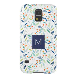 Modern Delicate Pastel Botanical Pattern Case For Galaxy S5