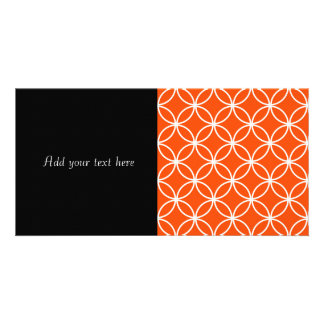 Modern Design Overlapping Circles in Orange Picture Card