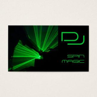 Modern DJ Business Cards Black Green