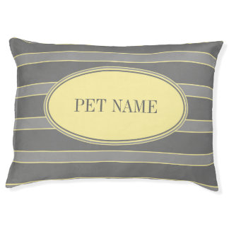 Modern dog bed Grey yellow Custom Pet bed