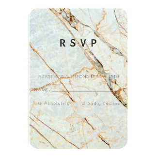 Modern Earth Marble Collection RSVP Card