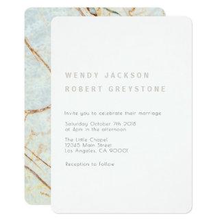 Modern Earth Marble Wedding Invitation