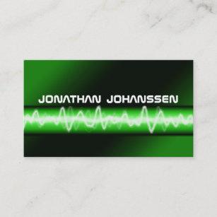 Professional dj business cards zazzle nz modern electric professional dj business card reheart Images