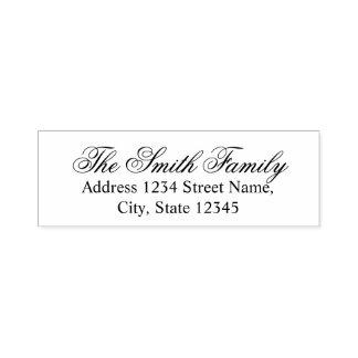 Modern Elegant Family Name Return Address Self-inking Stamp