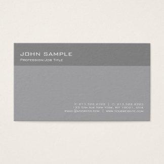 Modern Elegant Grey Professional Simple Plain Business Card