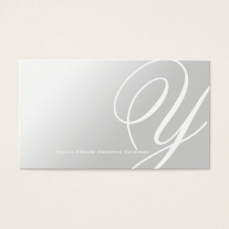 Modern Elegant Monogram A Business Card