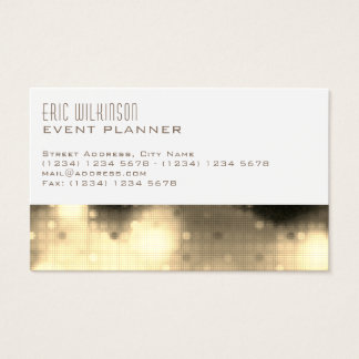 Modern elegant pattern template lights business card