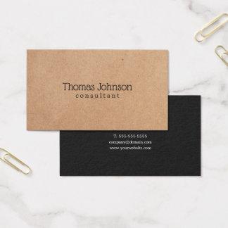 Modern Elegant PRINTED Kraft Dark Grey Consultant Business Card