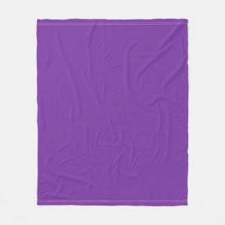 Modern Elegant Purple Violet Color Harmony Fleece Blanket
