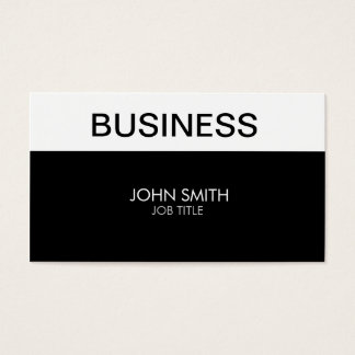 Modern Elegant Stylish Classy Plain Simple Business Card